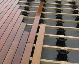 Buzon Pedestals with Wood Decking 1 - HDG Building Materials