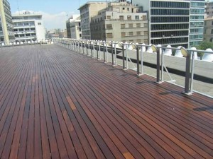Buzon Pedestals with Wood Decking in Public Terrace - HDG Building Materials
