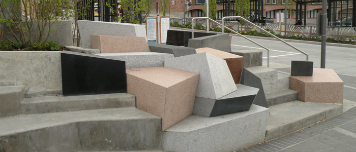 Granite Colors and Finishes at the Kirkland Transit Center - HDG Building Materials