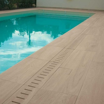 HDG Arctica Cream White Color Porcelain Paver - Private Pool Decking Application