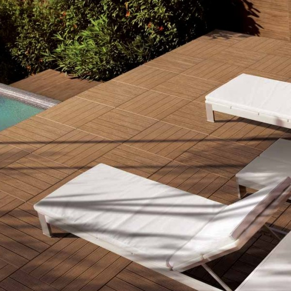 HDG Garapa Rovere 3464 Porcelain Tile Scene left - HDG Building Materials