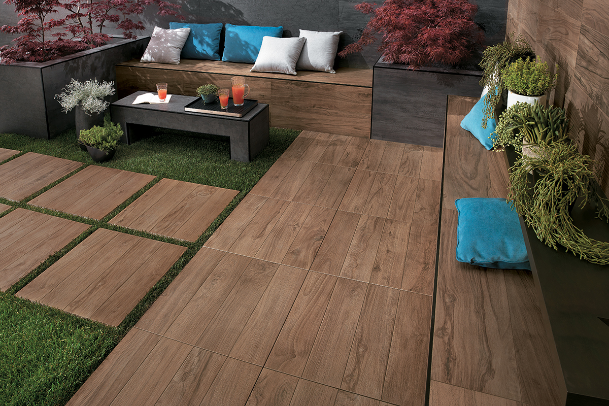 Hdg legno wood finish pavers hickory hdg building for Carrelage exterieur 60x60