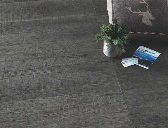 Vintage Grey Porcelain Pavers with Textured Wood Look Surface
