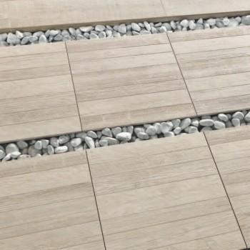 60x60 cm Wood Slat Finish Vintage Pine Porcelain Pavers