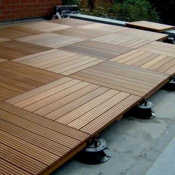 Ipe Hardwood Tiles with Buzon Pedestals - HDG Building Materials