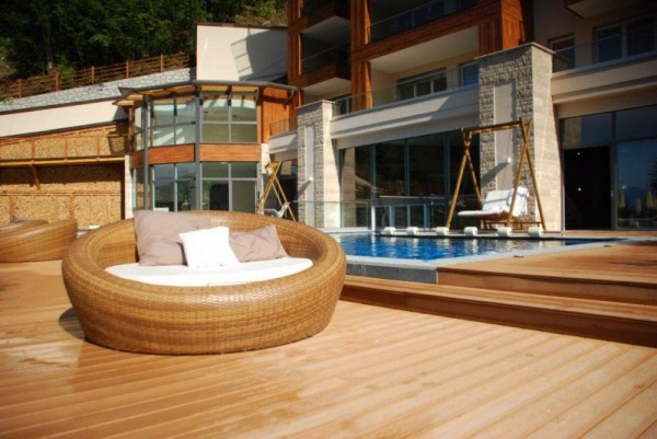 Architectural Composite Decking - Tru-Grain made with Resysta - Quellenhof Meran - HDG Building Materials