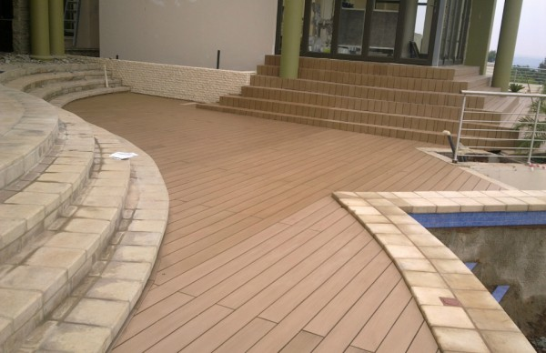 Resysta Rice Hull Composite Pool Surround Decking - HDG Building Materials