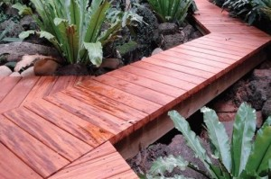 True Genuine Mahogany Walkway Application - HDG Building Materials