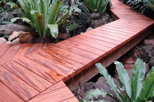 True Genuine Mahogany Walkway Application - HDG Building Materials