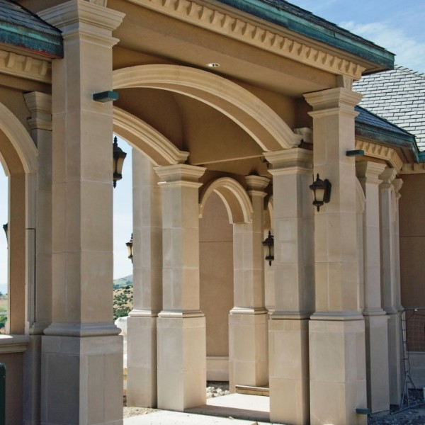 Belle Fiore Winery Granite Columns Entry - HDG Building Materials