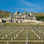 Belle Fiore Winery Stone and Slate House View From Vineyard - HDG Building Materials