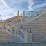 Belle Fiore Winery Granite Stairs - HDG Building Materials