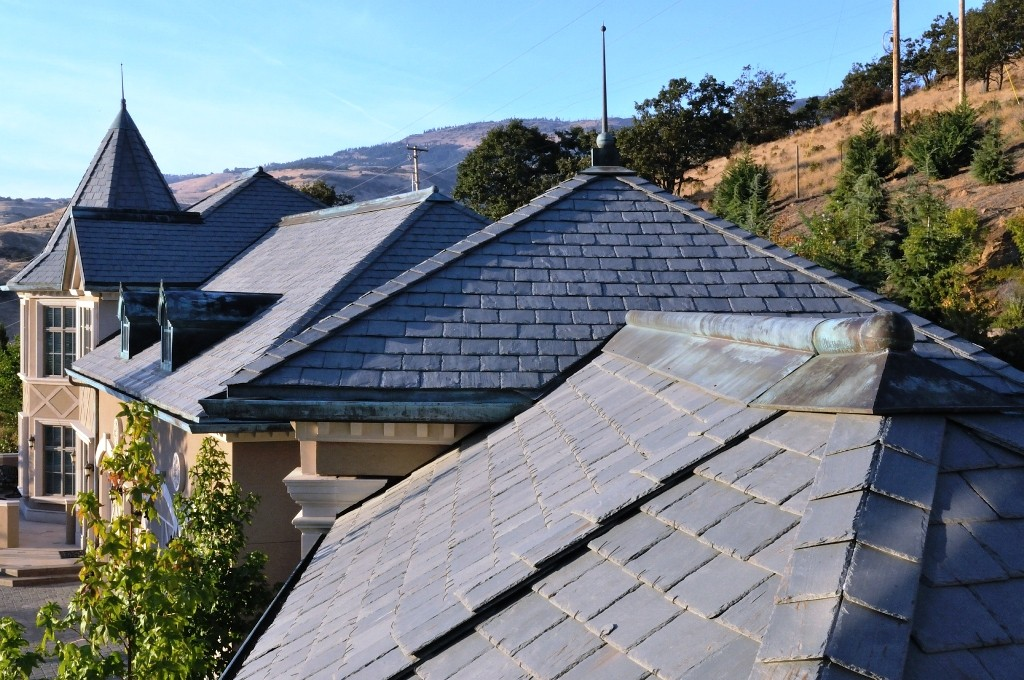 Belle Fiore Winery Blue Slate Roof Detail - HDG Building Materials