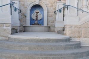 Belle Fiore Winery Granite Columns Stone Stair Fountain - HDG Building Materials