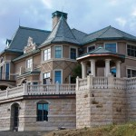 Belle Fiore Winery Stone and Slate House - HDG Building Materials