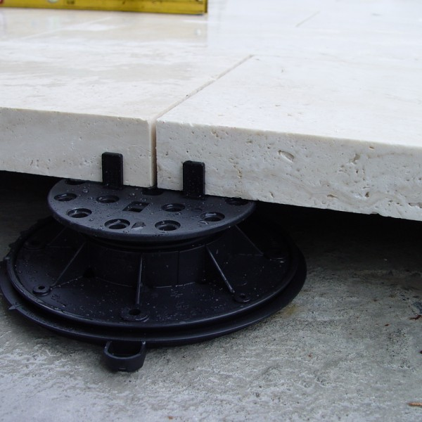 Buzon Pedestal Spacer Tabs with Stone Slab Paving - HDG Building Materials