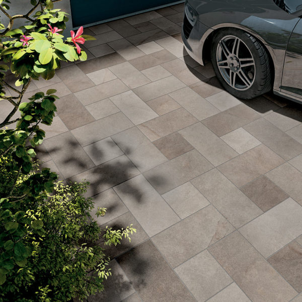Driveway Installation with HDG Pietra Pavero Ash Structrual Porcelain Pavers EP05 - HDG Building Materials