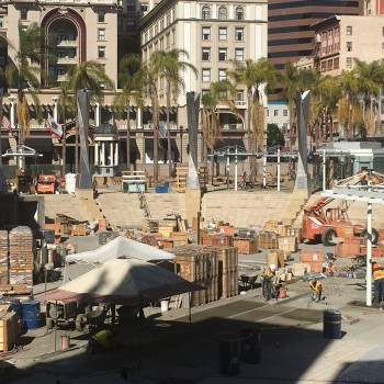 image of Tiger Yellow Granite Natural Stone Delivered to Horton Plaza San Diego from HDG Building Materials and Quarry Partner in China