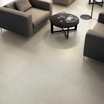 HDG Fondali Porcelain Tile in Gathering Space - Cream Tan Color