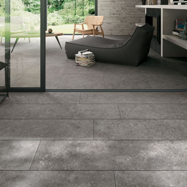 HDG NE Gris Limestone Finish Porcelain Paver - HDG Building Materials