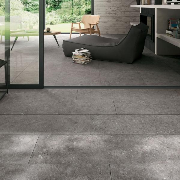 HDG NE Gris Limestone Finish Porcelain Paver - HDG Building Materials
