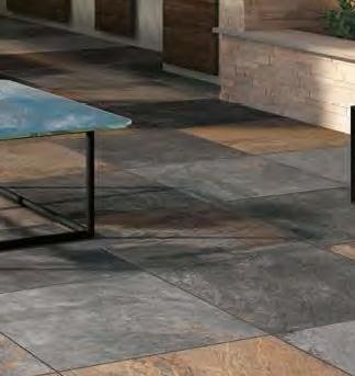 HDG Jamba Grey Porcelain Course Slate Tile - 60x60 Ardesie Vulcan Porcelain Paver - HDG Building Materials