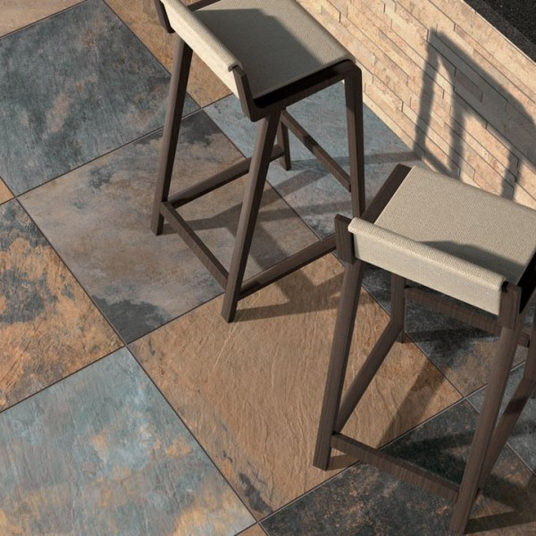 HDG Jamba Slate Porcelain Paver Course Slate Finish - HDG Building Materials