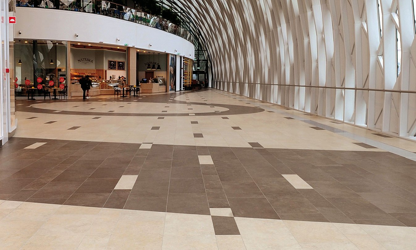 HDG Limestone Brown Porcelain Paver Greenwich TB04 Commercial Floor 1