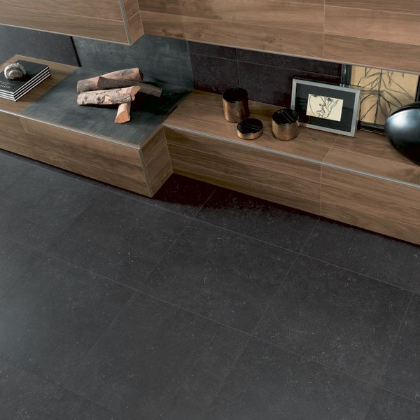 HDG Neros Porcelain Tile - Black Color