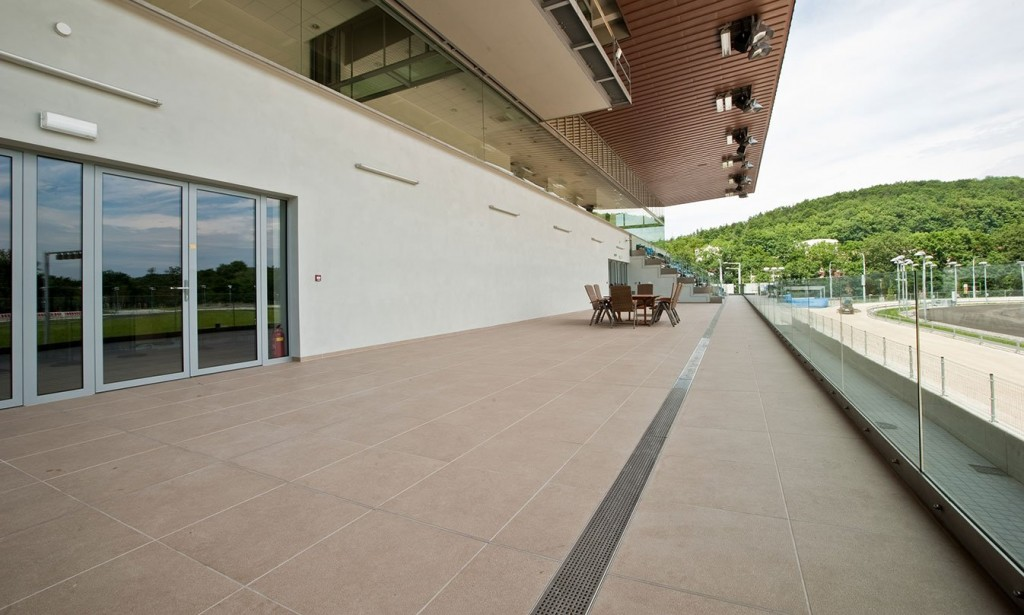 HDG Pamplona Tan Porcelain Paver 60x60 - Lab 21 LB Mou 04 - Commercial Decking Tile - HDG Building Materials