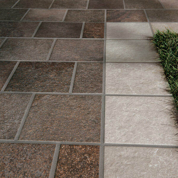 HDG Pavero Plum Porcelain Paver with Flamed Sandstone Finish