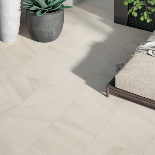 HDG Pietra Pavero Cream Porcelain Pavers EP04 Outdoor Living Room - HDG Building Materials