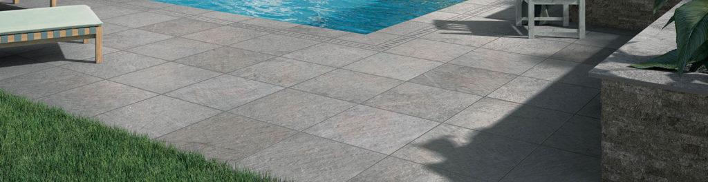 HDG Sierra Grey Pietra Quarzite Finish Porcelain Tile - HDG Building Materials