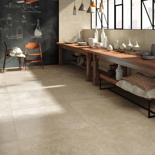 HDG Urban Way Tan Stone Finish Porcelain Paver 60x60 cm