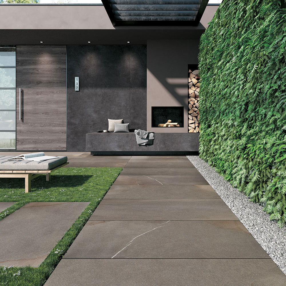 Outdoor Living with HDG Pietra Pavero Brown Porcelain Pavers EP06 - HDG Building Materials