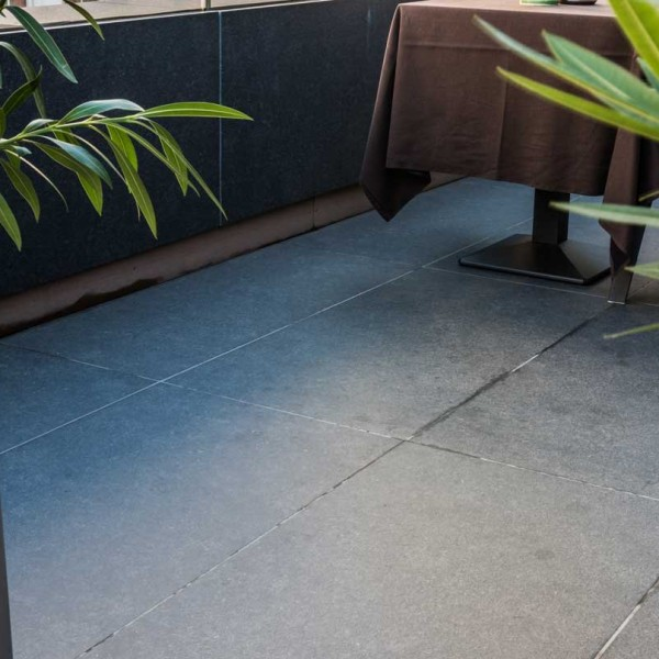 Pietra HDG Berona Dark Brown Limestone Finish Outdoor Porcelain Paver 60x120 cm (24x48 in) - HDG Building Materials