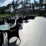 Pietra HDG Berona Light Porcelain Paver Terrace with Buzon Pedestals - HDG Building Materials