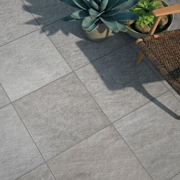 HDG Sierra Grey Porcelain Tile Outdoor Terrace - HDG Building Materials