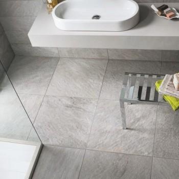 HDG Sierra Grey Porcelain Tile for Wetroom Application - HDG Building Materials