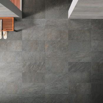 HDG Sierra Graphite Porcelain Tile in Wellness Center - HDG Building Materials
