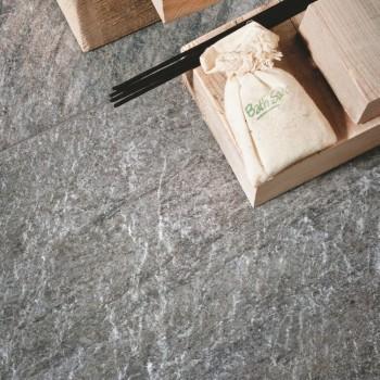 HDG Sierra Graphite Stone Look Porcelain Tile - HDG Building Materials