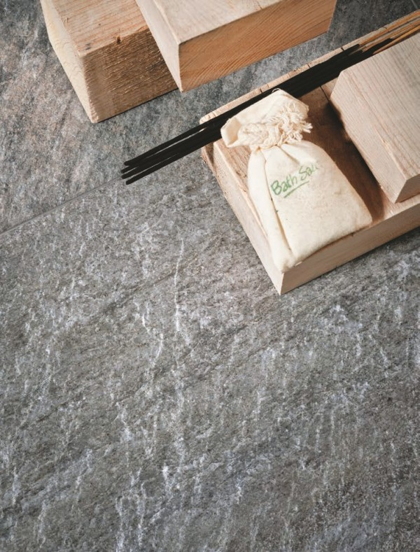 HDG Sierra Graphite Stone Look Porcelain Tile - HDG Building Materials