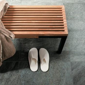 HDG Sierra Graphite Porcelain Tile in Wetroom - HDG Building Materials