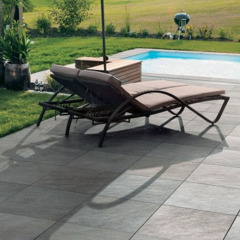 HDG Sierra Grey Porcelain Tile Pool Deck and Surround - HDG Building Materials