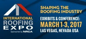 Logo for International Roofing Expo 2017 - HDG Building Materials