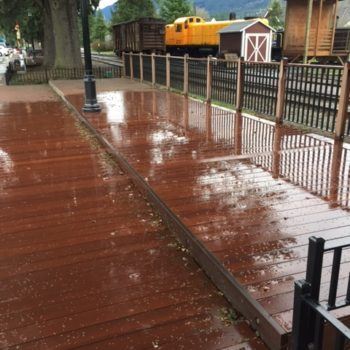 Resysta decking is rot-free and unharmed by termites and other insects
