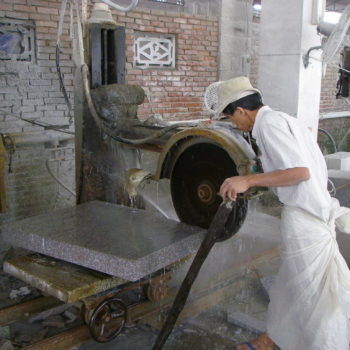image of Stone-Cutting-at-HDG Building Materials Partner-Factory-in-China