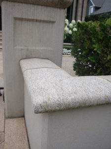 image of Natural Stone Wall and Coping Corner Detail - HDG Building Materials0