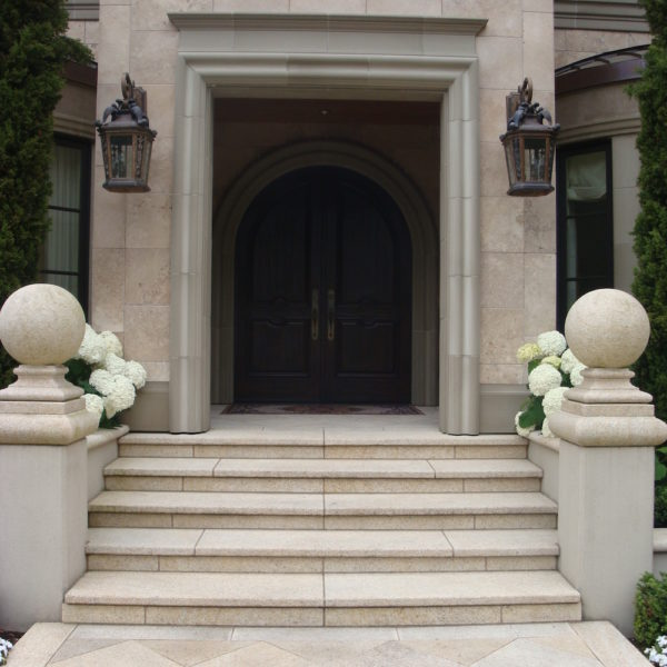 image of Residence Entrance with Natural Stone Stairs and Approach - HDG Building Materials