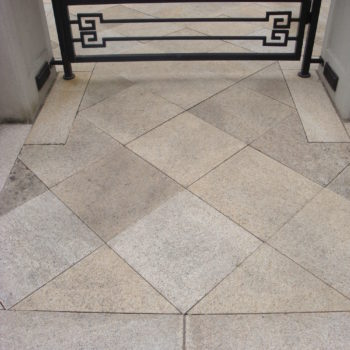 image of Residence with Natural Stone Pavers and Gated Entrance Create Grand Feel - HDG Building Materials